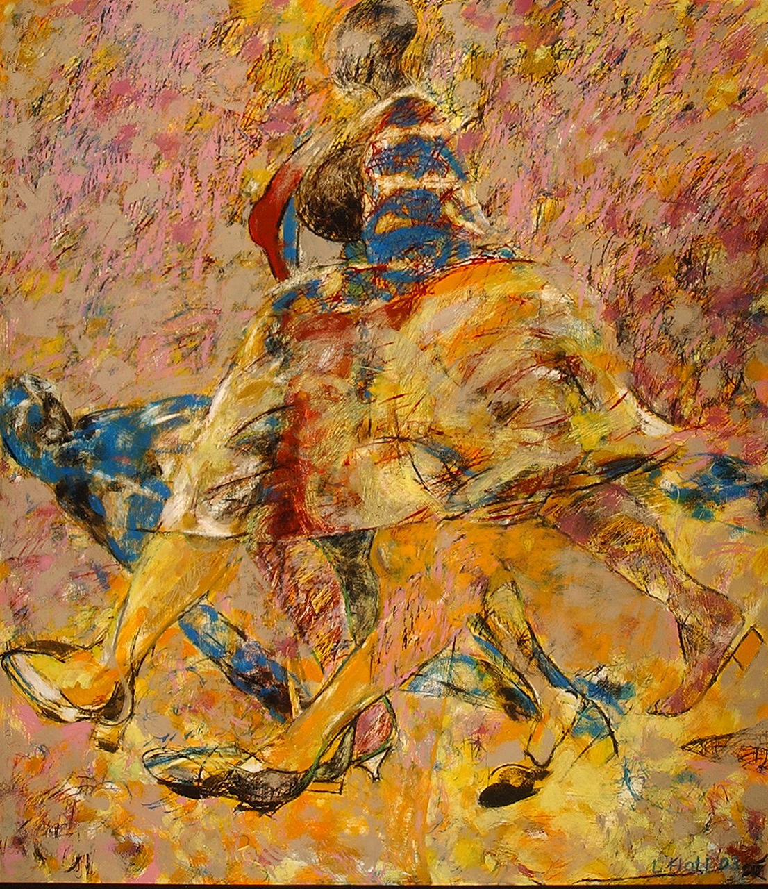 Louise-Hall-Walking-Woman-Series-II,-2003-oil-on-board-152-cm-x-134-cm-web