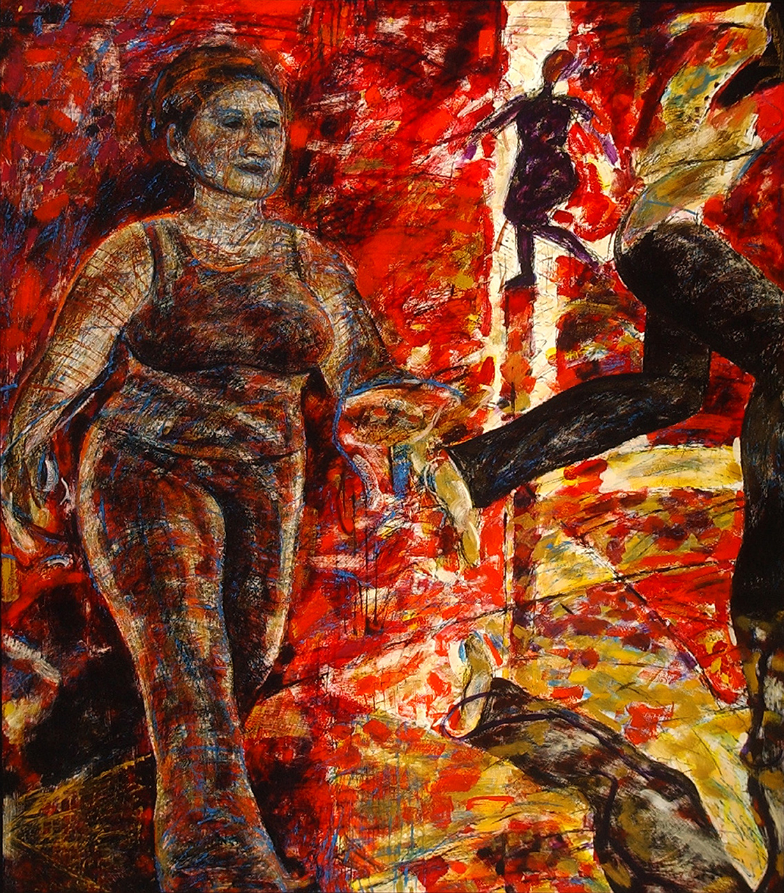 Louise-Hall-Walking-Woman-series-I,-2003-oil-on-board-152-x-134-cm-web